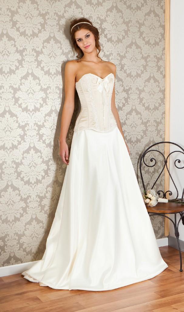 vestidos de novia con corset