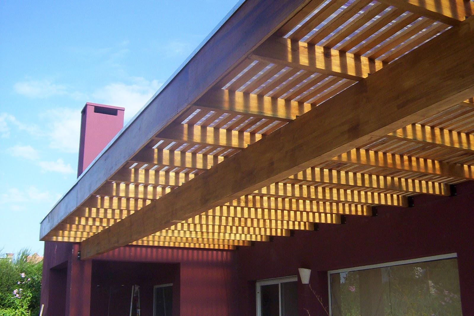 Zinka techos pergola realizada en barrio bcas de san for Techos de madera para exterior
