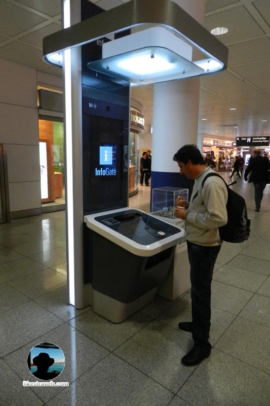 Munich airport info gate