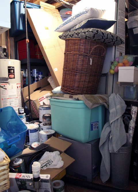 Here Is What The Storage Room Looked Like Last Year When We Started.  Warning, The Following Photos Are Not All Pretty. Brace Yourselves.