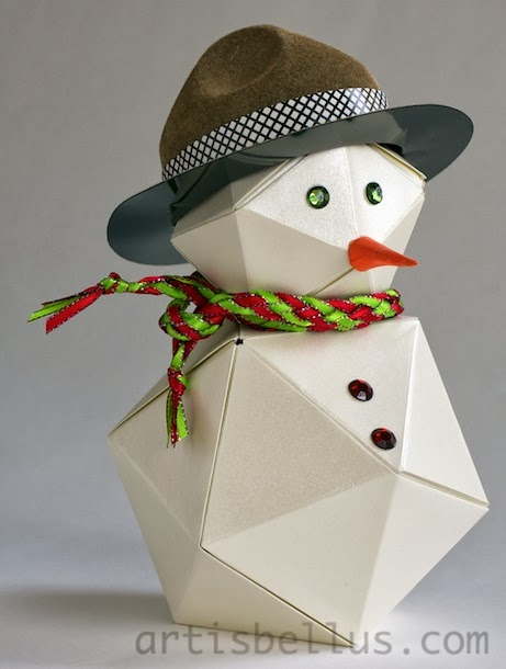 Holidays origami snowman origami artis bellus for How to make snowman with paper