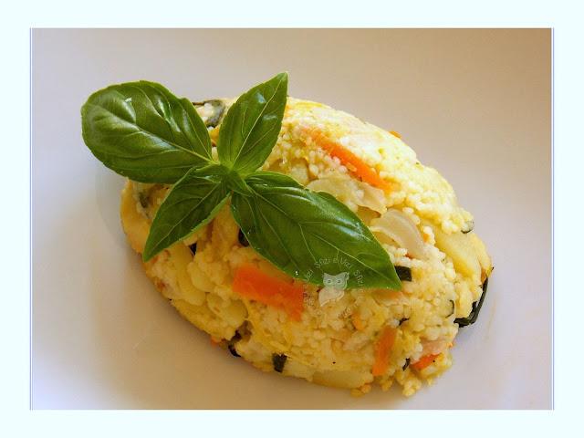 sformatini di couscous alle verdure con mozzarisella (poco maghrebini, molto veg!)