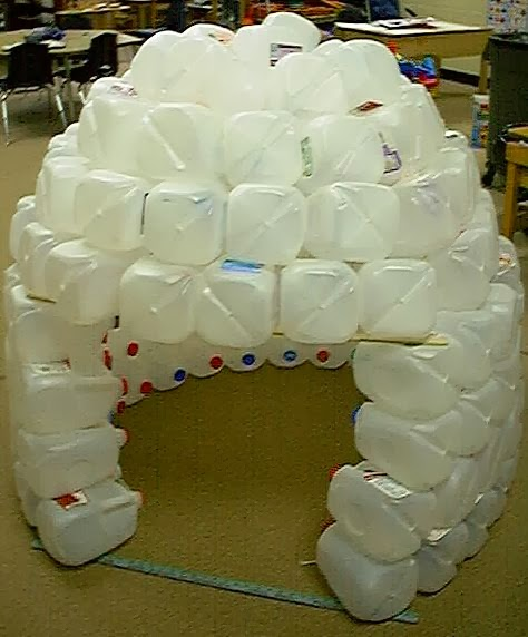 The art of up cycling plastic bottle reuse ideas cool for How to build an igloo out of milk jugs