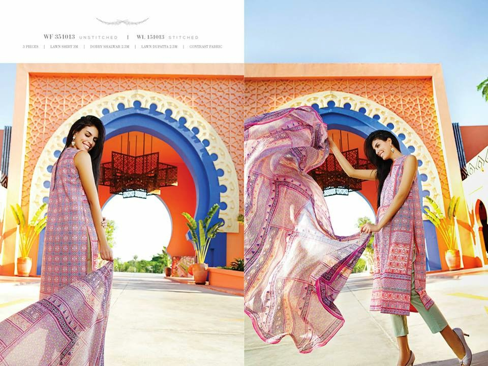 Summer lawn collection 2015 for girls