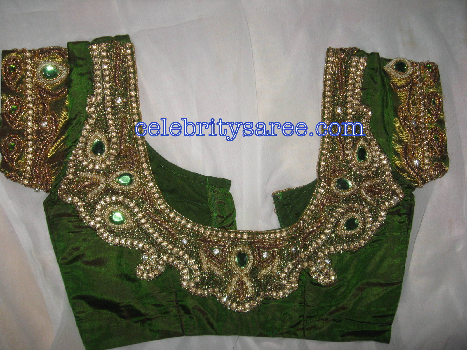 Silk embroidery designer hand work blouses gallery
