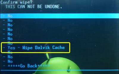 Wipe dalvik cache как это сделать