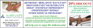 Discount Coupon for Physiotherapy Treatments, The Art of Life offer until March 15, 2013
