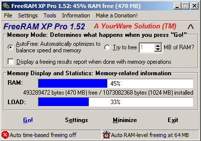 FreeRAM XP Pro To Increase Your System's Speed [Freeware]