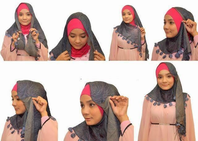 Cara Pakai Jilbab Segi Empat Modern Terbaru