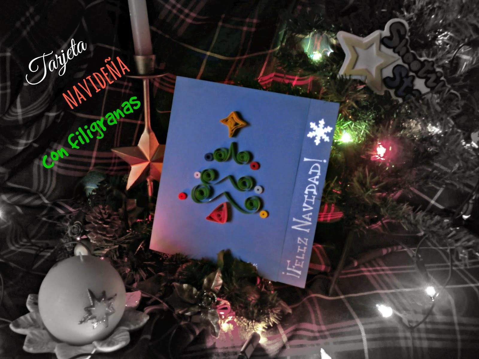 DIY tarjeta navideña con filigrana
