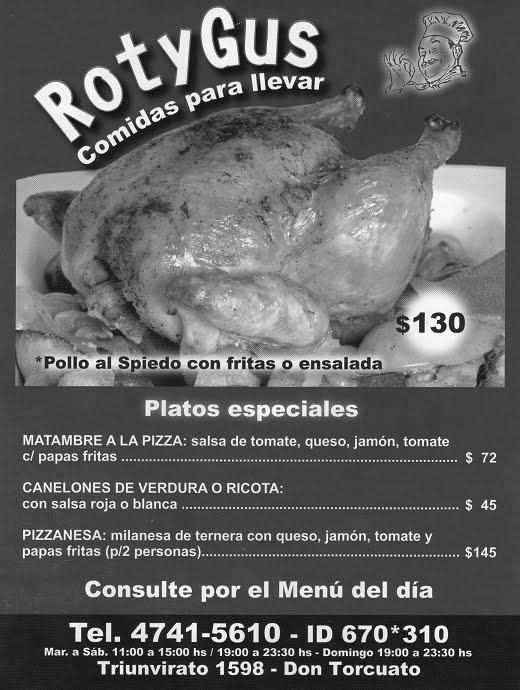 ROTISERIA / COMIDAS PARA LLEVAR