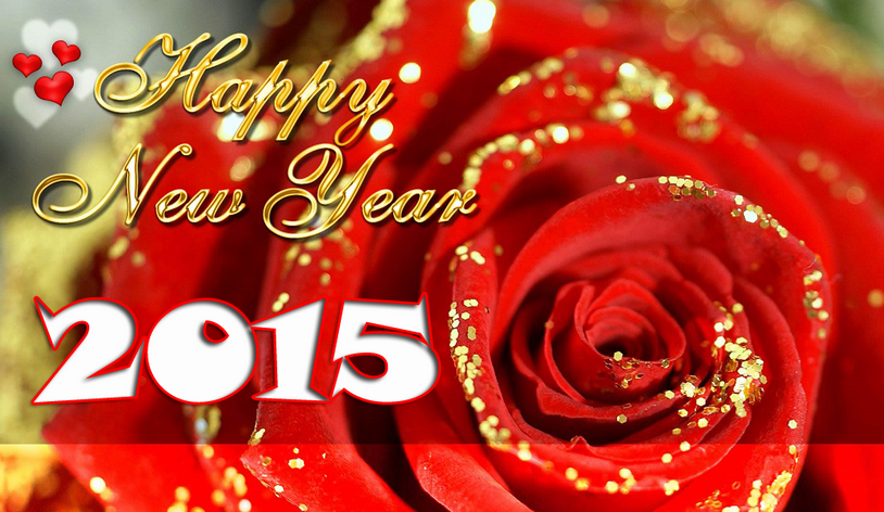 Rose Happy New Year 2015 Free Download