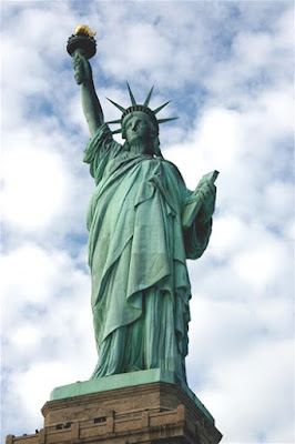 The beautiful Statue of Liberty