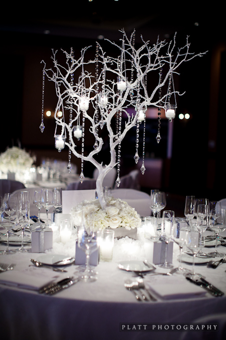 Winter Wedding Tree Centerpiece
