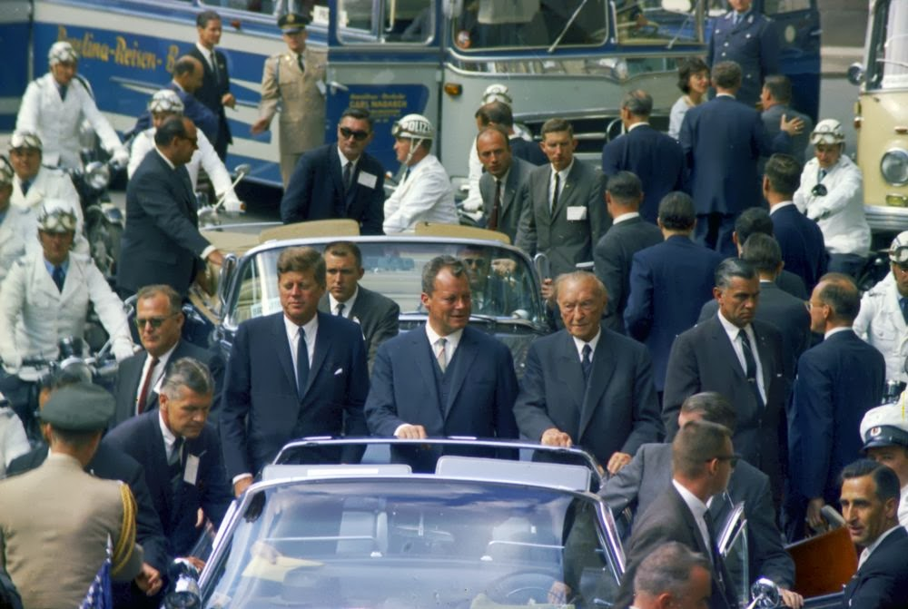 JFK: the view from the press photographers flatbed truck