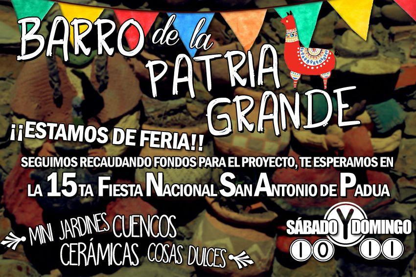 BARRO DE LA PATRIA GRANDE EN LA 15 FERIA DE PADUA