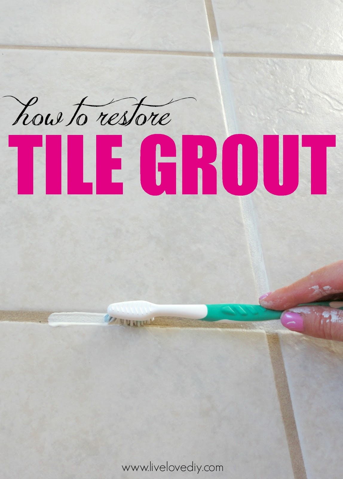 Bathroom modern this method to clean bathroom tiles is 100 times more - How To Restore Dirty Tile Grout This Is So Great