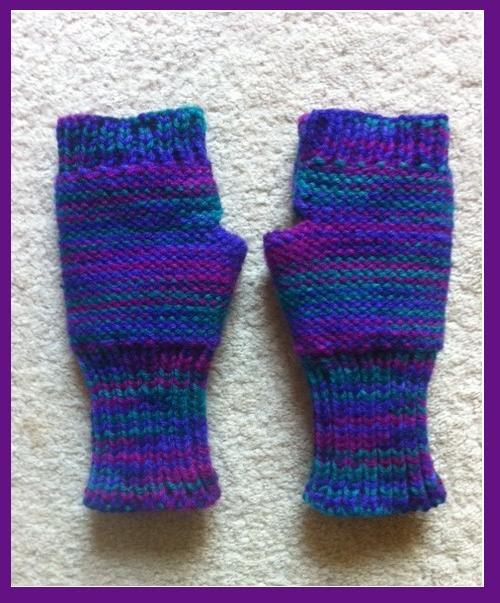 Marzipanknits Beautiful Machine Knit Fingerless Gloves