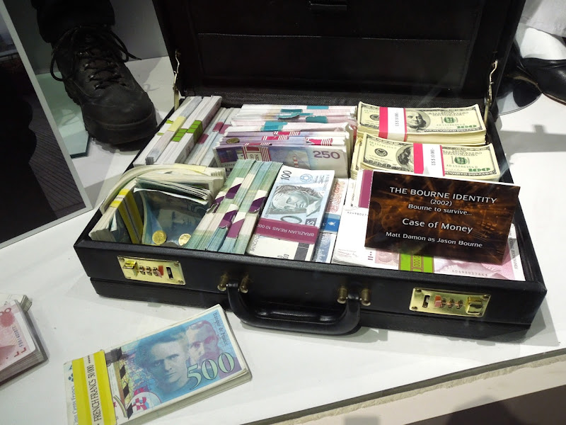 Bourne Identity case money prop