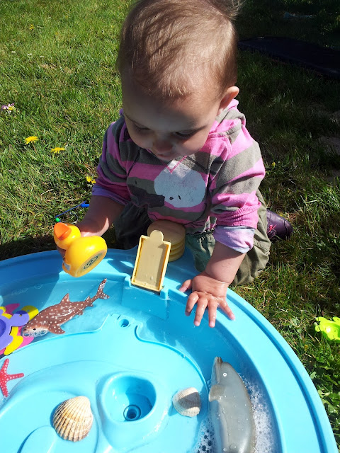 Matilda Mae's Messy Play Water Table Seaside Animals Isabelle Dolphin Duck Fish
