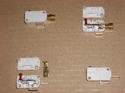 Microinterruptor desmontado