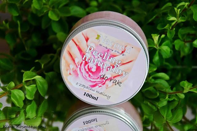 Nacomi, peeling naturalny do rąk o zapachu maliny