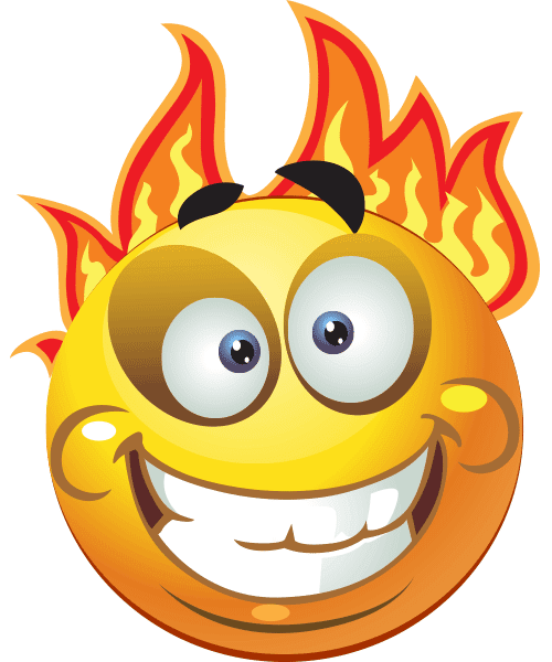 Fire Ball Smiley