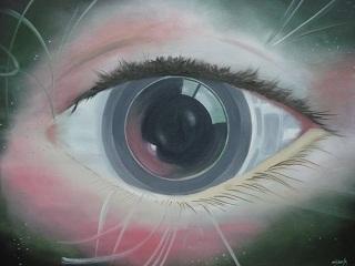 Olho nu - óleo sobre tela de O.Heinze
