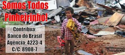 Campanha de apoio financeiro aos ex-moradores do Pinheirinho