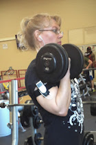 Bicep Curls with 40 lb Dumbbells