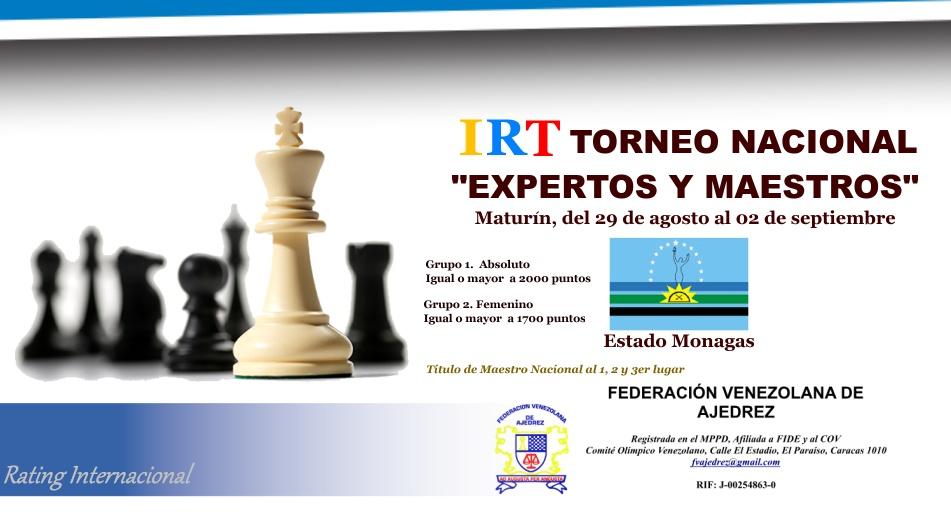 TORNEO NACIONAL EXPERTOS Y MAESTROS