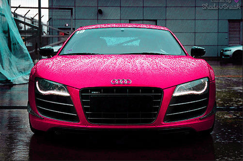 Motor Cars And Bikes Pink Audi Car For Girls