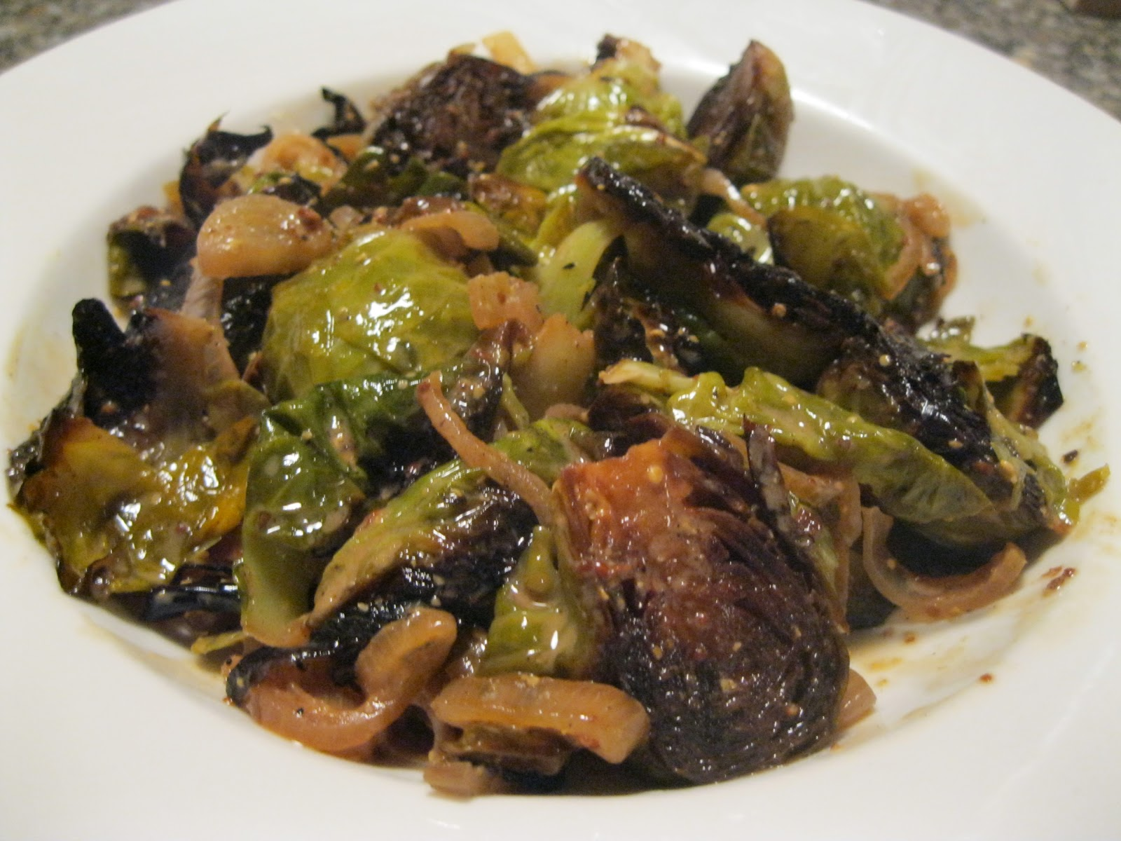 ... Your Tomatoes Until They're Picked: DIJON BRAISED BRUSSEL SPROUTS