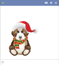 Christmas Puppy Facebook Sticker