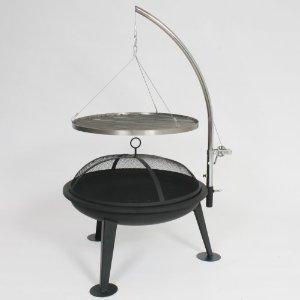 garten grillen bbq schwenkgrill grill holzkohlegrill inkl funkenhaube feuerschale. Black Bedroom Furniture Sets. Home Design Ideas
