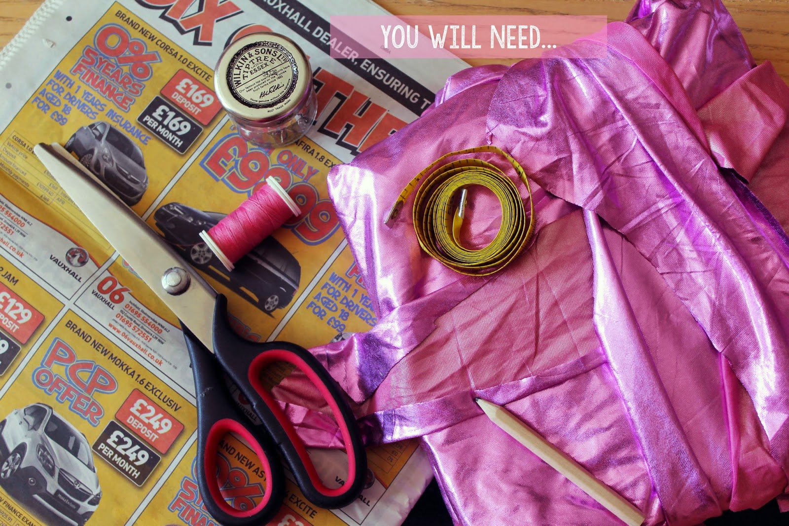 list of sewing equipment what you will need to make your own halter crop top