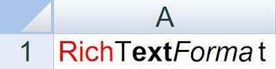 XLS - Rich Text Format - Java POI Example Program - Output