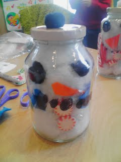 Preschool Winter Activity for kids how to make a Snowman in a jar