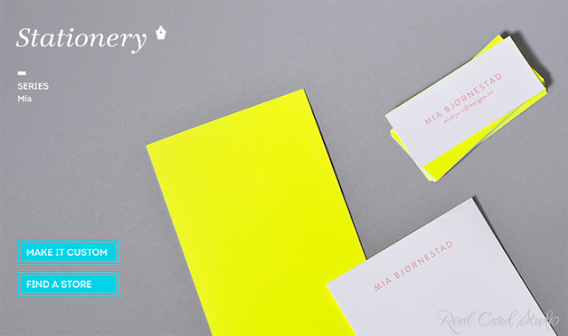 Duplexed card, neon yellow, letterpress printing
