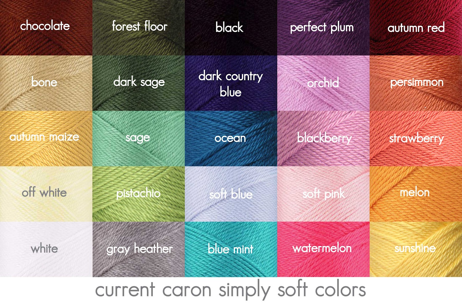 Red Heart Yarn Colors Reproducibility...