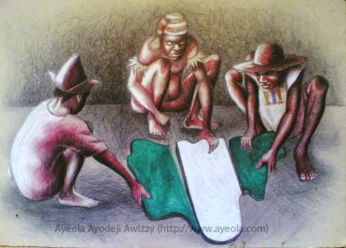 great art painting of nigeria by nigeria best artist ayeola ayodeji the famouse painter from africa