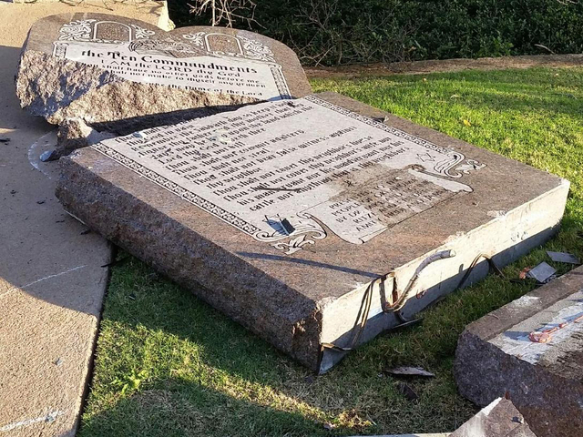 The 10 Commandments have been broken