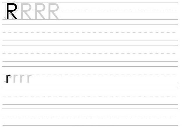 Atividades de Alfabetização coma letra R