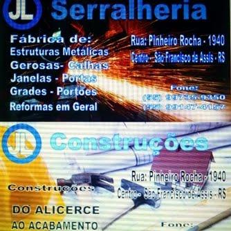 JL SERRALHERIA E CONSTRUÇÕES