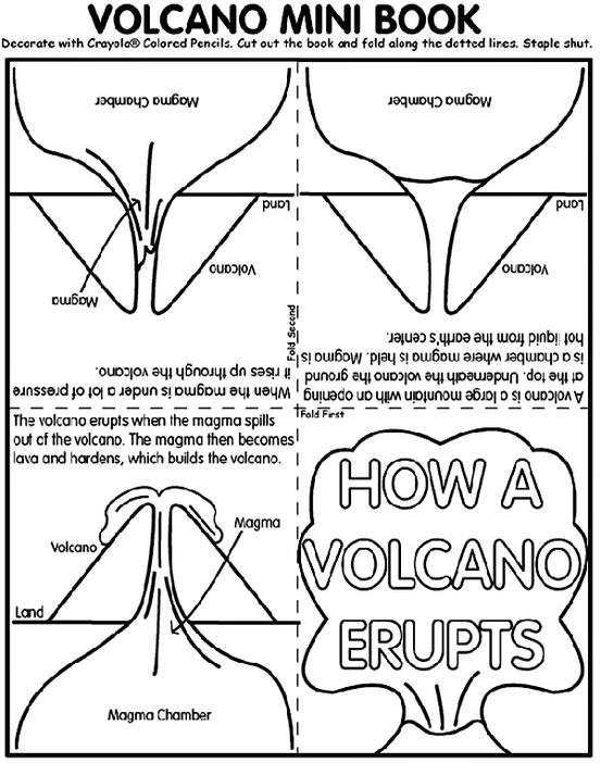 Schooling at home happenings volcano in the plume at the top is a little pocket where we placed his how a volcano erupts booklet you can find this booklet coloring page at crayola ccuart Image collections