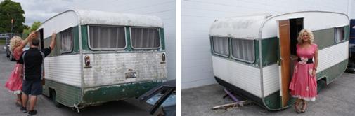 caravanes vintage et cie restauration. Black Bedroom Furniture Sets. Home Design Ideas