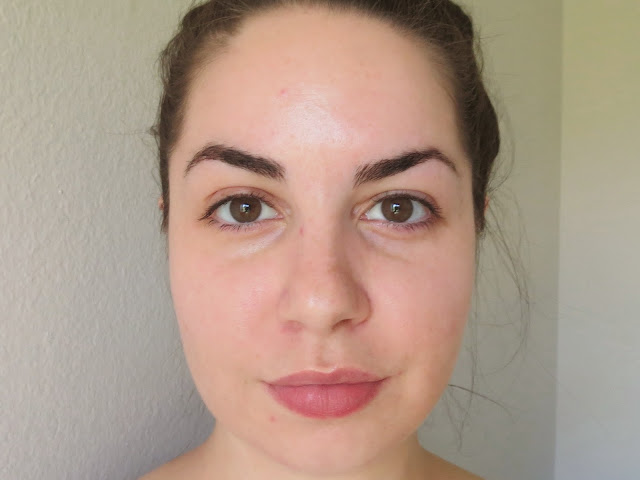 a picture of Before photo, no makeup, to show Maybelline Fit Me Matte+Poreless Foundation