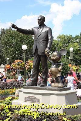 Walt Disney Partners statue Growing Up Disney