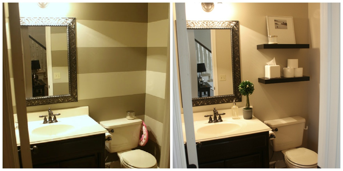 Crazy Wonderful: quick powder room makeover