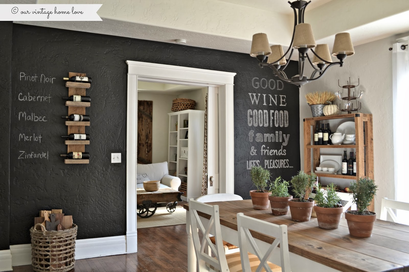 vintage home love: Chalkboard Wall